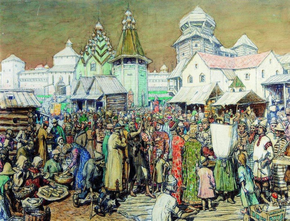 Васнецов - Площадь